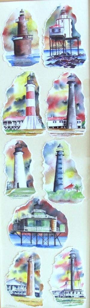10 x 36 Texas Lighthouses