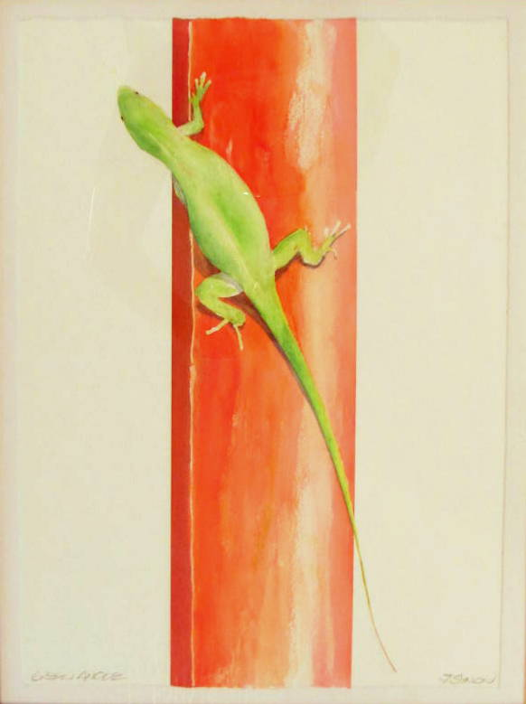 18 x 24 Green Anole
