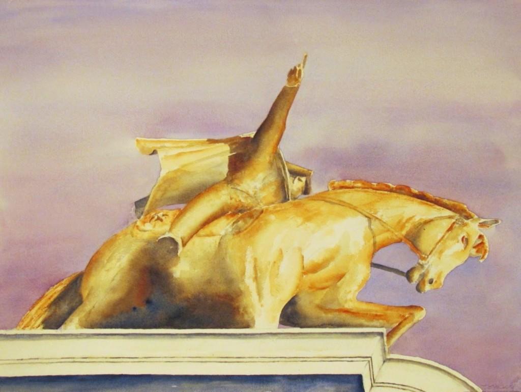 Sam Houston Statue 18 x 24